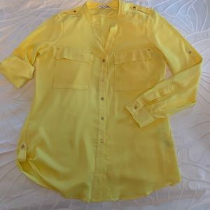 Yellow Calvin Klein Shirt